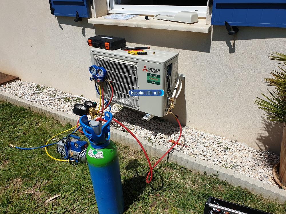 test climatisation à l'azote hydrogénée